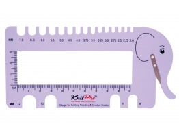 Knit Pro Needle and Crochet View Sizer (with Yarn Cutter)