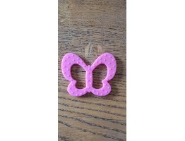 Pink butterfly teether